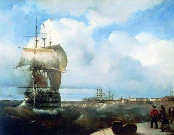 Description of the painting by Ivan Aivazovsky Big Raid in Kronstadt