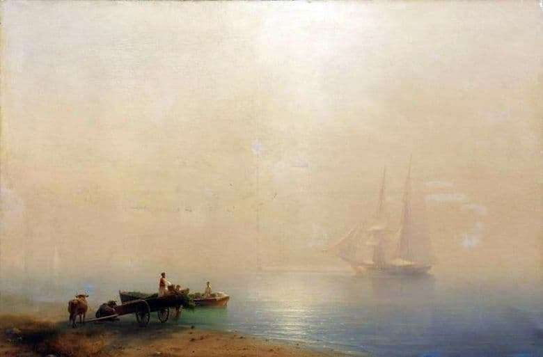 Description of the painting by Ivan Aivazovsky Foggy Morning