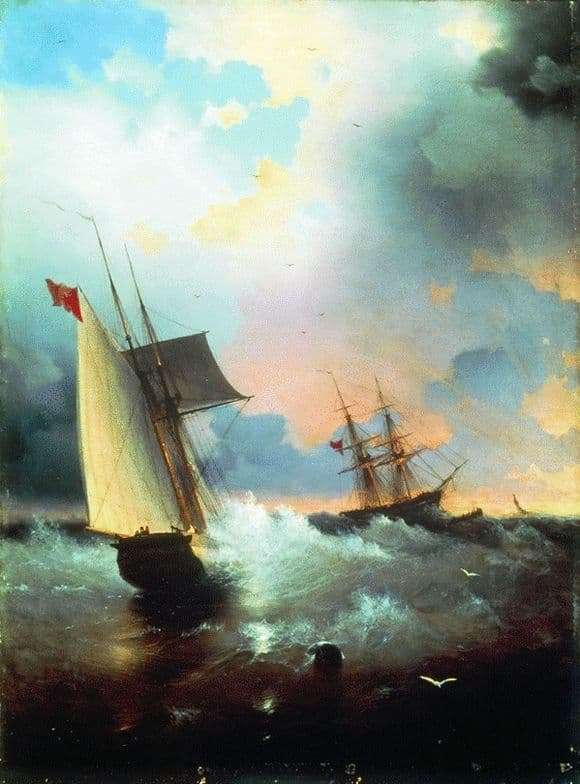 Description of the painting by Ivan Aivazovsky Sailboats