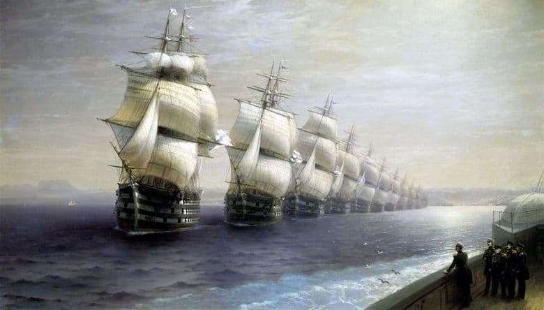 Description of the painting by Ivan Aivazovsky Review of the Black Sea Fleet