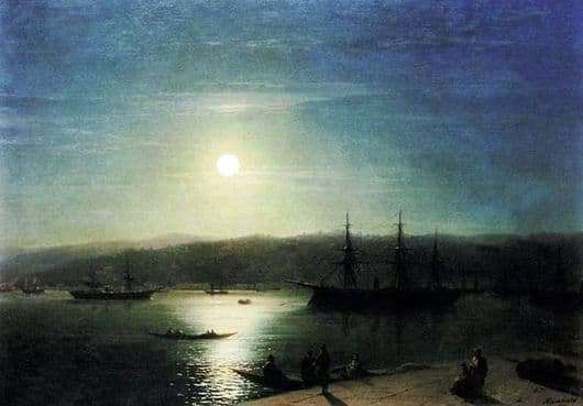 Description of the painting by Ivan Aivazovsky Bosphorus on a moonlit night