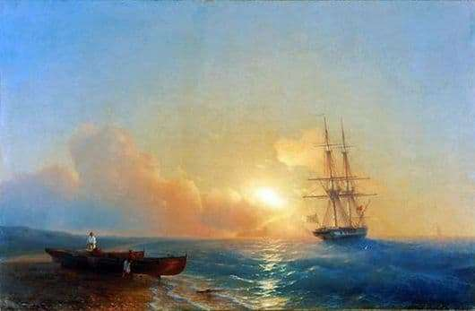 Description of the painting by Ivan Aivazovsky Fishermen on the beach