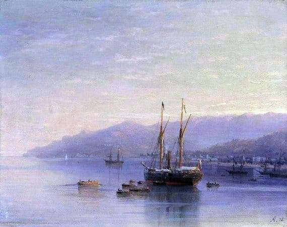 Description of the painting by Ivan Aivazovsky Yalta Coast