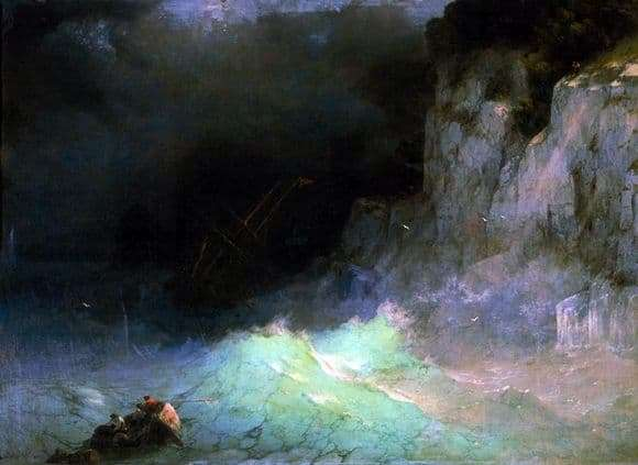 Description of the painting by Ivan Aivazovsky Storm