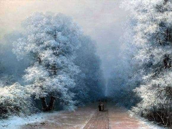 Description of the painting by Ivan Aivazovsky Winter Landscape