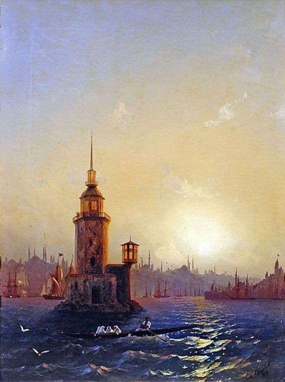 Description of the painting by Ivan Aivazovsky View of the Leander Tower