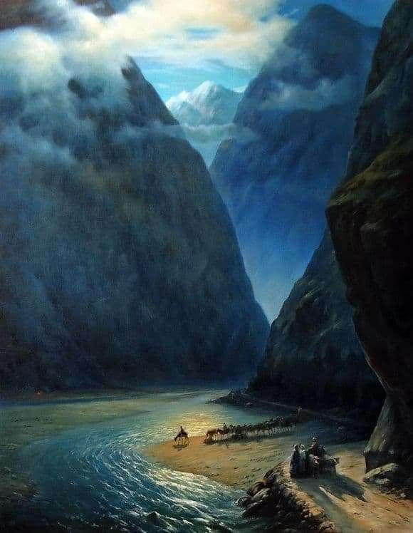 Description of the painting by Ivan Aivazovsky Darial Gorge