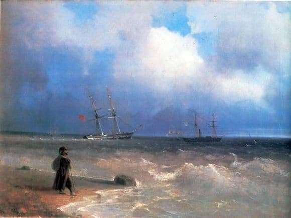 Description of the painting by Ivan Aivazovsky Sea Coast