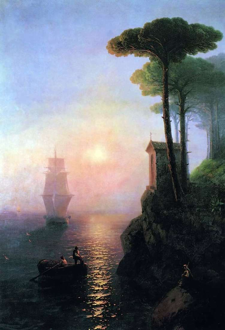 Description of the painting by Ivan Aivazovsky Foggy Morning in Italy