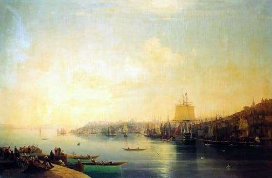 Description of the painting by Ivan Aivazovsky View of Constantinople and the Bosphorus