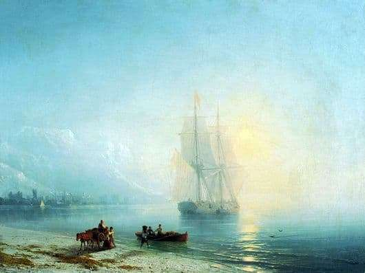 Description of the painting by Ivan Aivazovsky Calm Sea