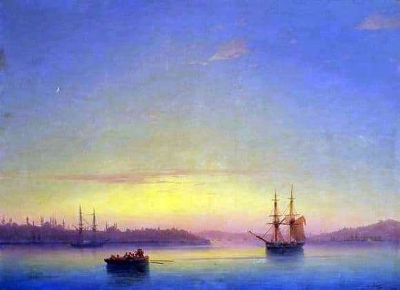 Description of the painting by Ivan Aivazovsky Constantinople at dawn