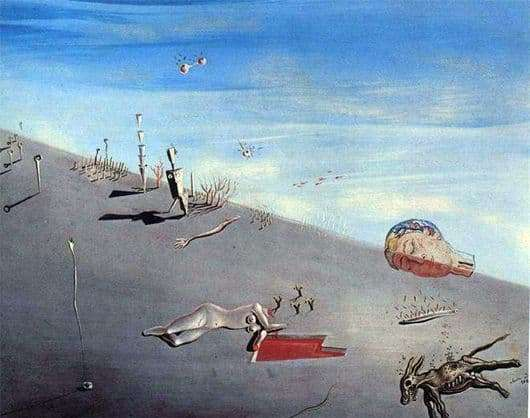 Description of the painting by Salvador Dali Honey is sweeter than blood