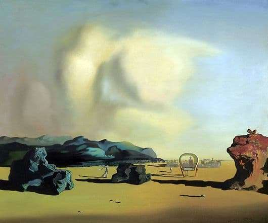 Description of the painting by Salvador Dali Transition Moment