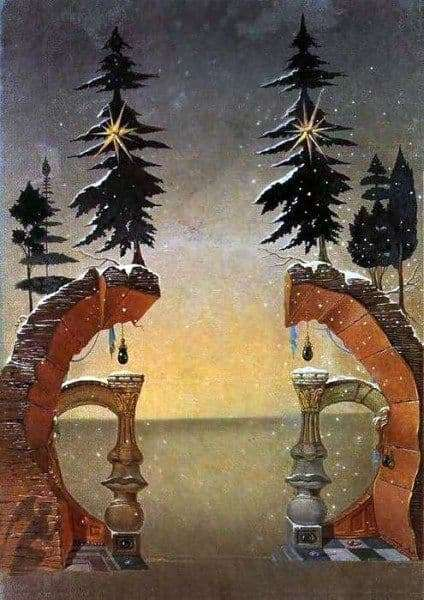 Description of the painting by Salvador Dali Christmas