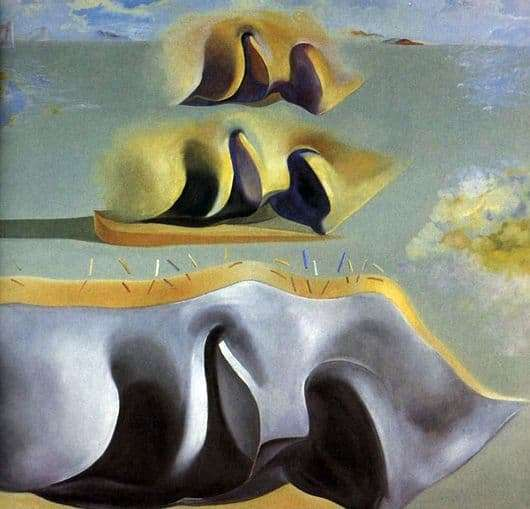 Description of the painting by Salvador Dali Three puzzles