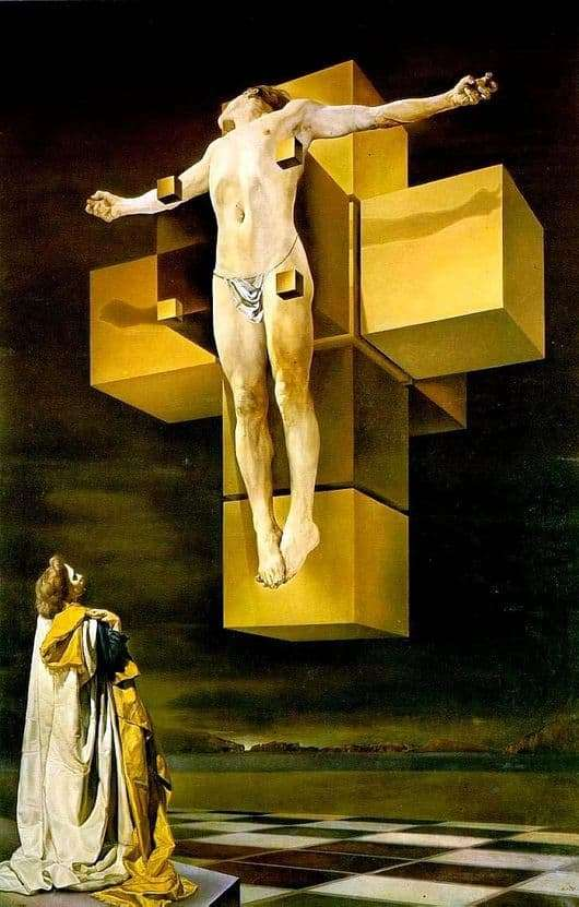 Description of the painting by Salvador Dali Crucifixion