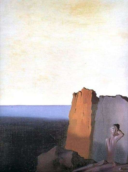 Description of the painting by Salvador Dali Loneliness