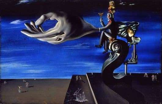 Description of the painting by Salvador Dali Pangs of conscience (Option 2)