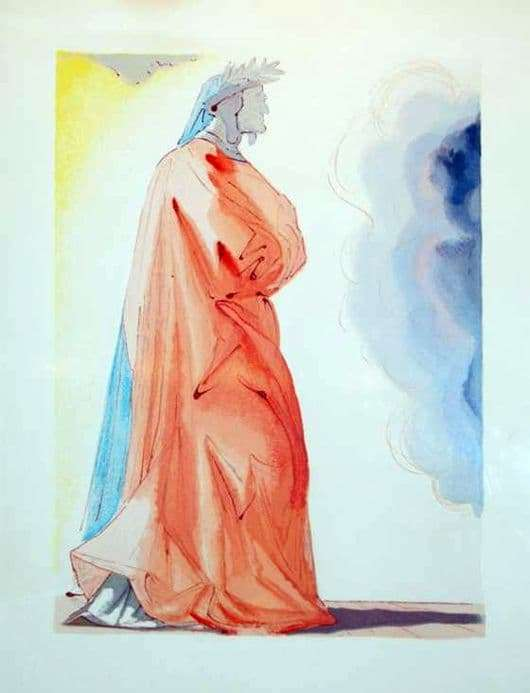 Description of the painting by Salvador Dali Dante