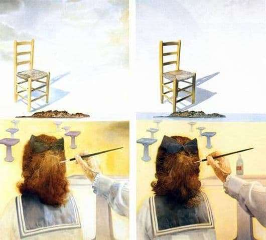 Description of the painting by Salvador Dali Chair
