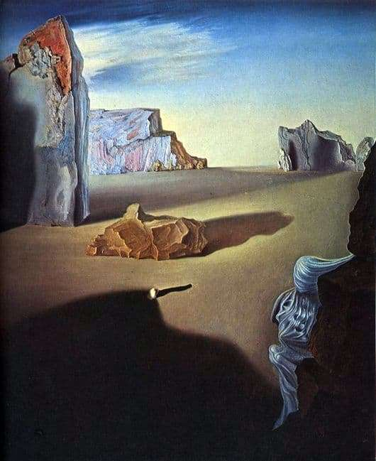 Description of the painting by Salvador Dali Shadows of Melting Night