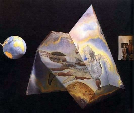 Description of the painting by Salvador Dali Polyhedron