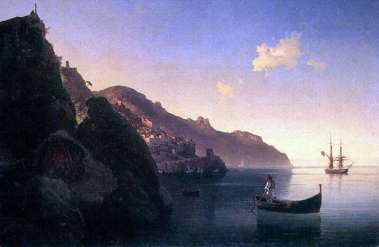 Description of the painting by Ivan Aivazovsky Coast in Amalfi