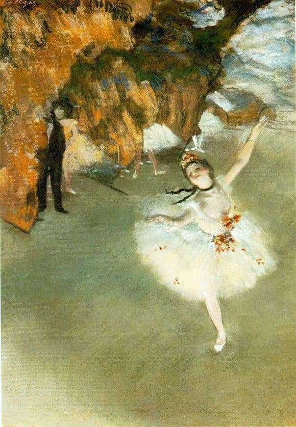 Description of the painting by Edgar Degas Star