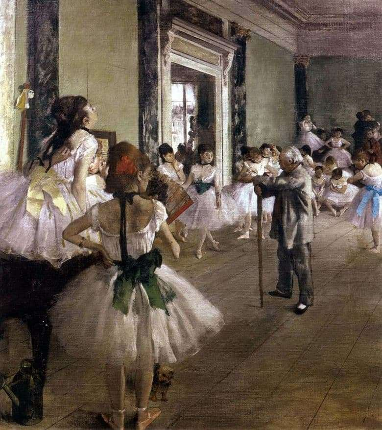 Description of the painting by Edgar Degas Dance Class