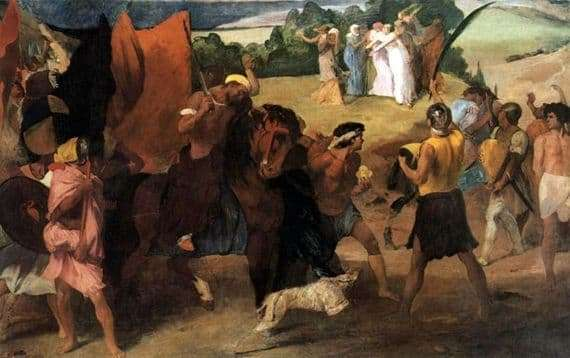 Description of the painting by Edgar Degas Daughter of Jephthah