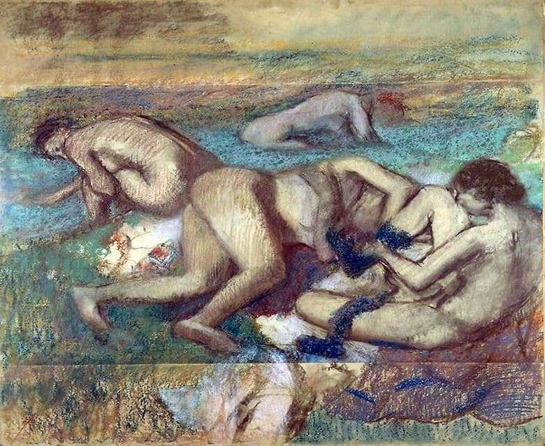 Description of the painting by Edgar Degas Bathers