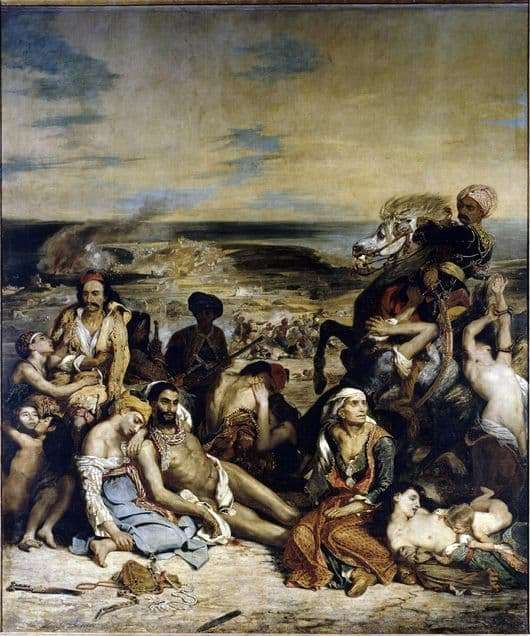 Description of the painting by Eugene Delacroix The Massacre at Chios