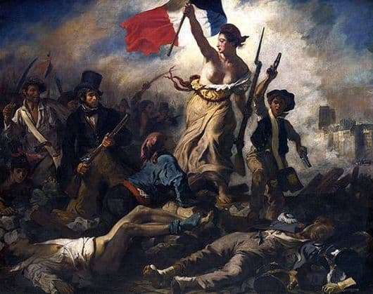 Description of the painting by Eugene Delacroix Freedom leading people (Freedom on the barricades)