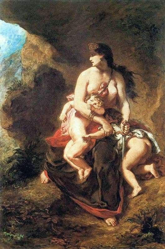 Description of the painting by Eugene Delacroix Medea