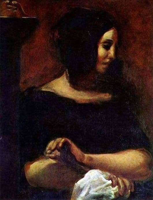 Description of the painting by Eugene Delacroix George Sand