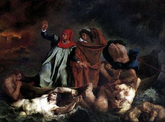 Description of the painting by Eugene Delacroix Dante and Virgil