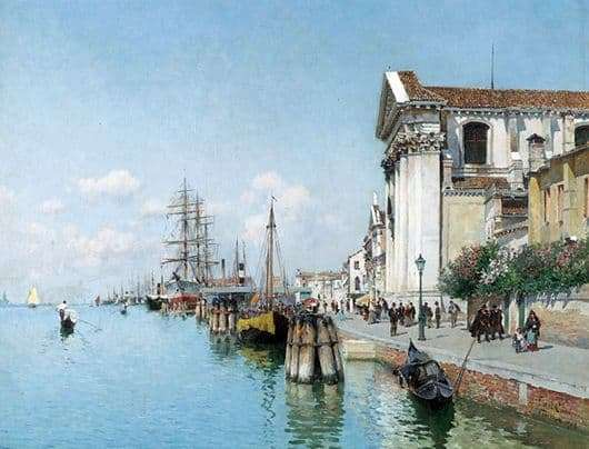 Description of the painting by Federico Del Campo Venice
