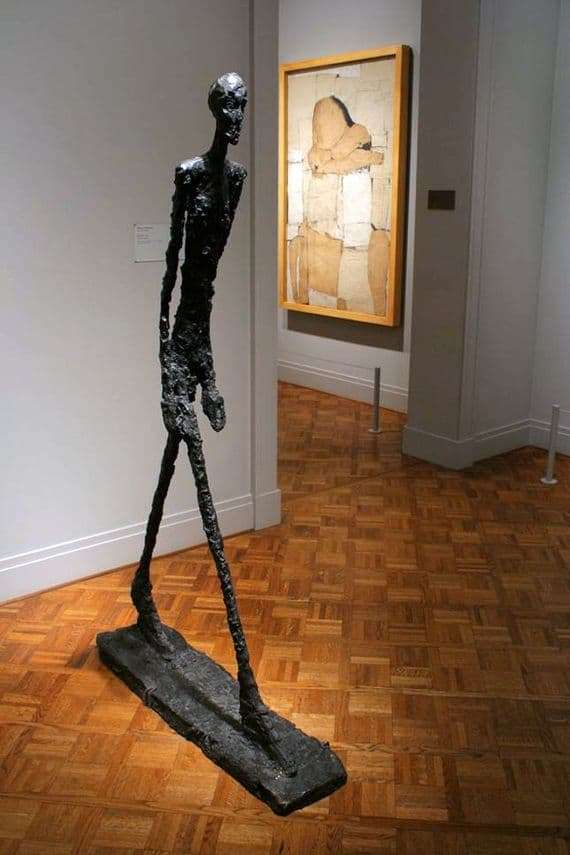 Description of the Alberto Giacometti Sculpture The Walking Man