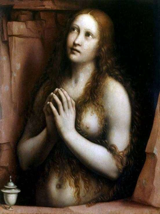 Description of the painting by Dzhampetrino Penitent Mary Magdalene
