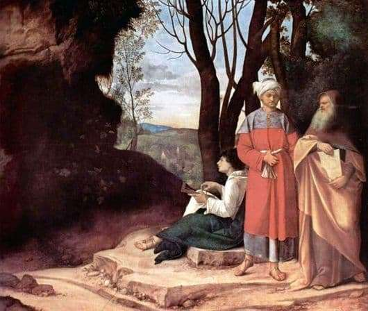 Description of the painting by Giorgione di Castelfranco Three Philosophers