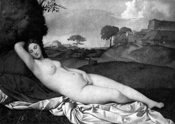 Description of the painting by Giorgione Sleeping Venus