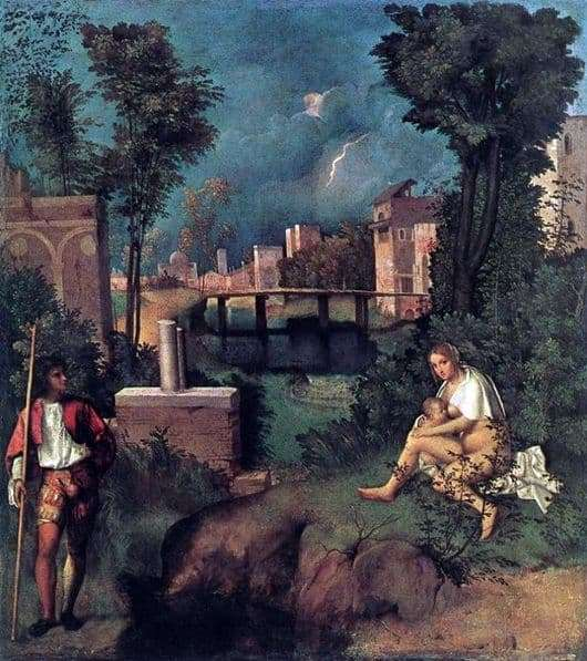 Description of the painting by Giorgione The Thunderstorm (Storm)