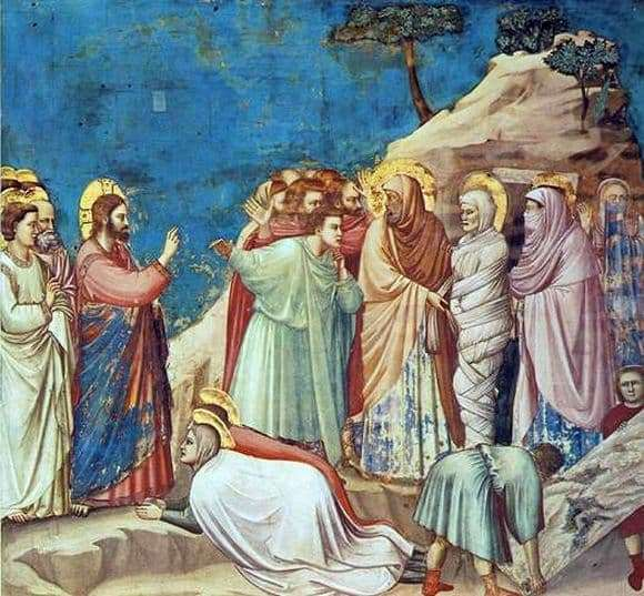 Description of the painting by Giotto Resurrection of Lazarus