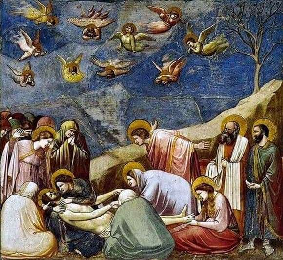 Description of the fresco by Giotto di Bondone Lamentation of Christ