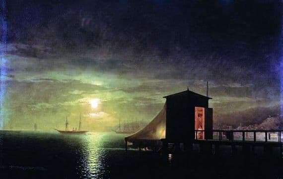 Description of the painting by Ivan Aivazovsky Moonlit Night. Bath in Feodosia