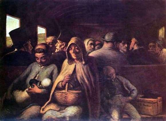 Description of the painting by Honore Daumier Third Class Car