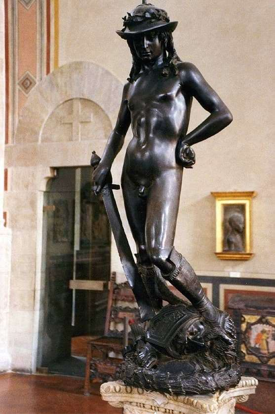 Description of the statue of Donatello David