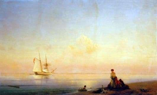 Description of the painting by Ivan Aivazovsky Calm