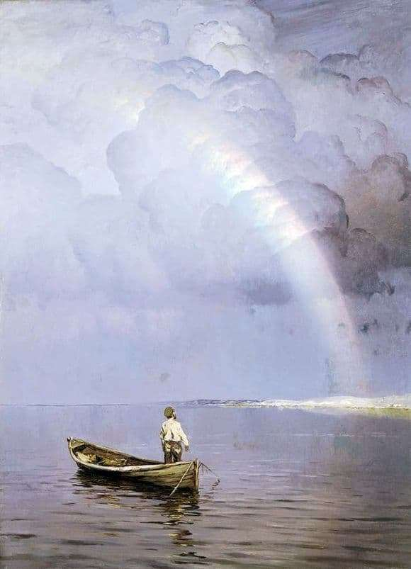 Description of the painting by Nicholas Dubovsky Rainbow